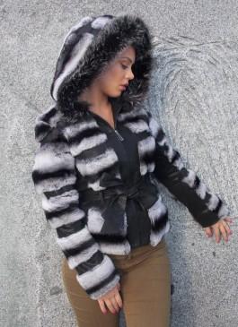 Kožna jakna sa krznom Jennifer