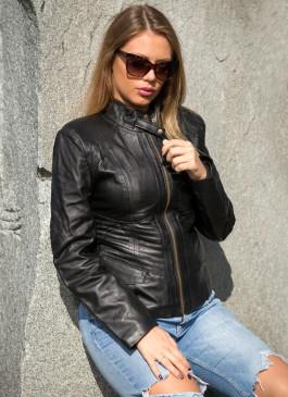 Kožna jakna Julia (crna)