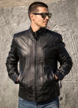 Kožna jakna Morris (crna)