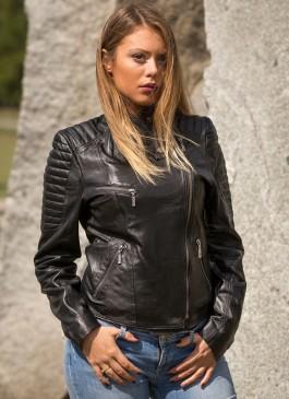 Kožna jakna Victoria (crna)