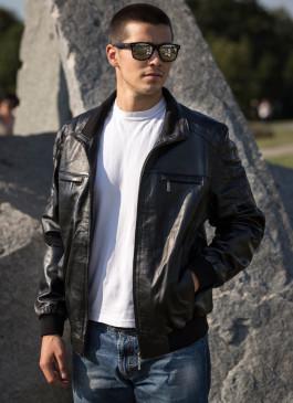 Kožna jakna Harley (crna)