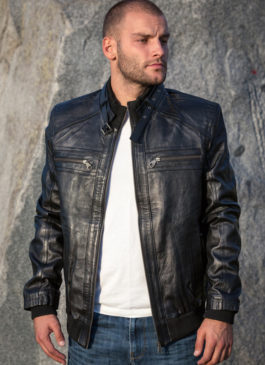 Kožna jakna Springfield (crna)