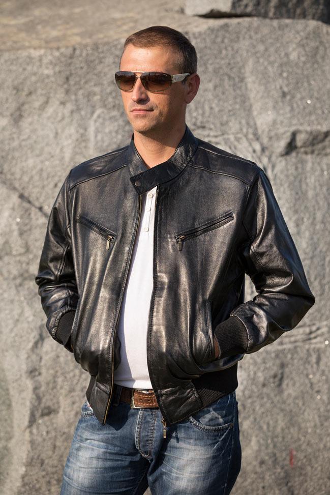 Muška kožna jakna - Bokserica - Spencer - CrnaMuška kožna jakna - Bokserica - Spencer - Crna