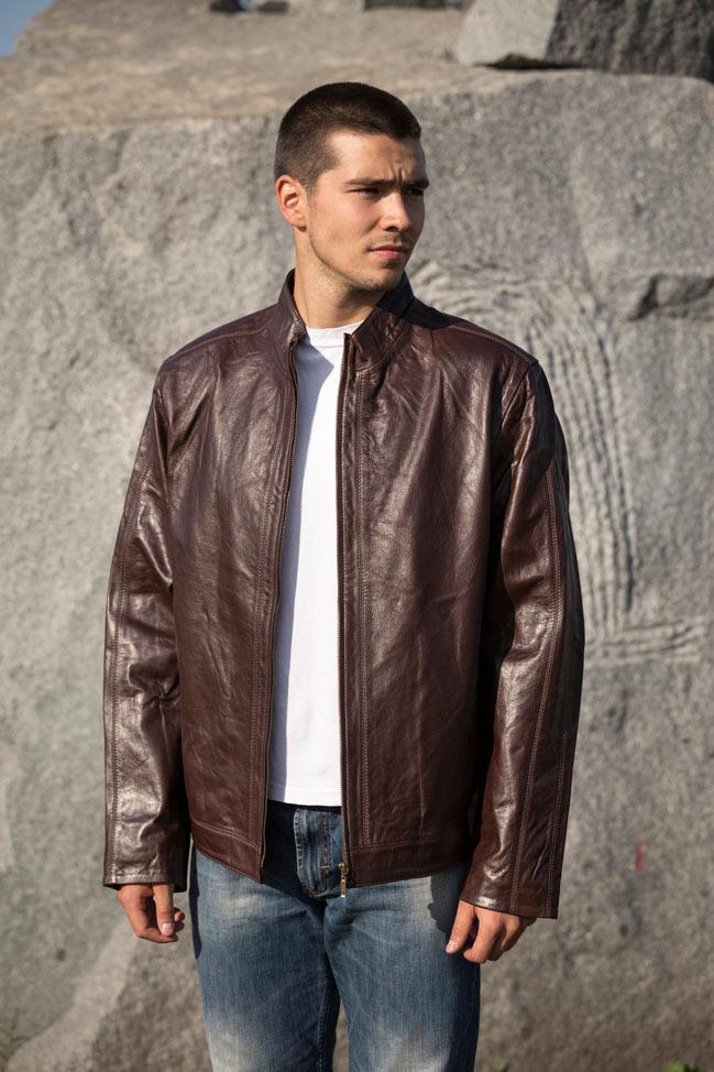 Muška kožna jakna - Magnus - Bordo