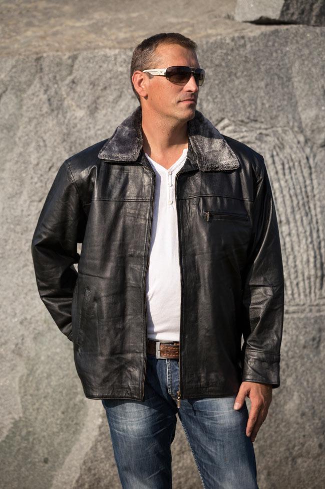 Muška kožna jakna - Sheffield - Crna