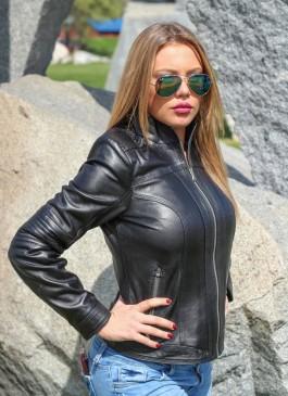 Kožna jakna Monica (crna)