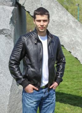 Kožna jakna Becker (crna)