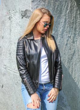 Kožna jakna Britney (crna)
