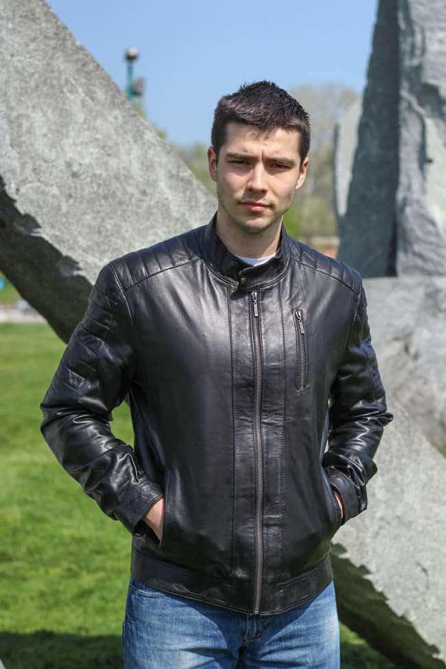 Muška kožna jakna - Boris - Crna
