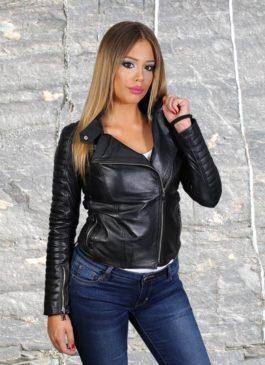 Kožna jakna Tina (crna)