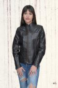 Kožna jakna Monica tamno braon 2