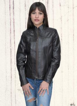 Kožna jakna Monica (tamno braon)