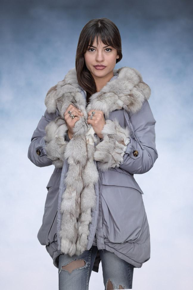 Ženska zimska jakna - Parka - 3QR - Siva