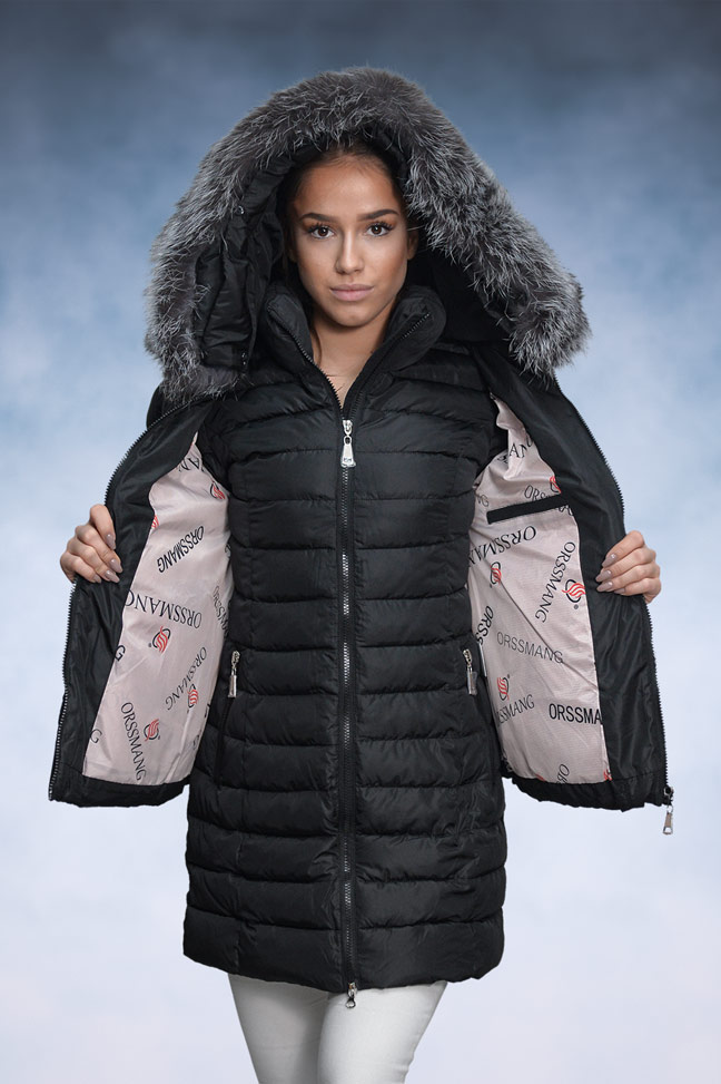 Ženska zimska jakna - Sportska i Casual - 16-101 - Crna 1
