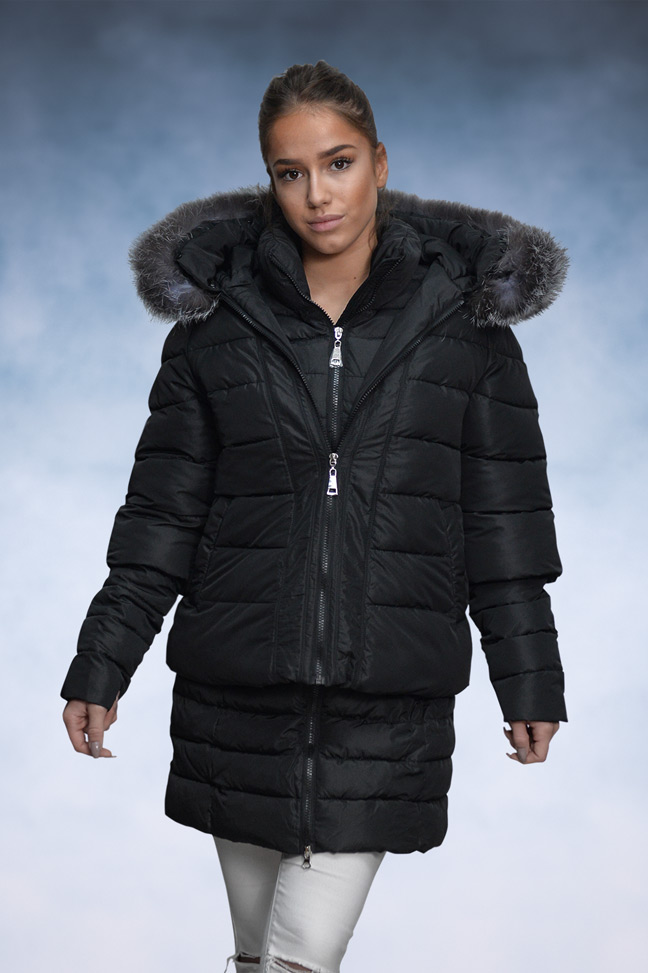 Ženska zimska jakna - Sportska i Casual - 16-101 - Crna 2