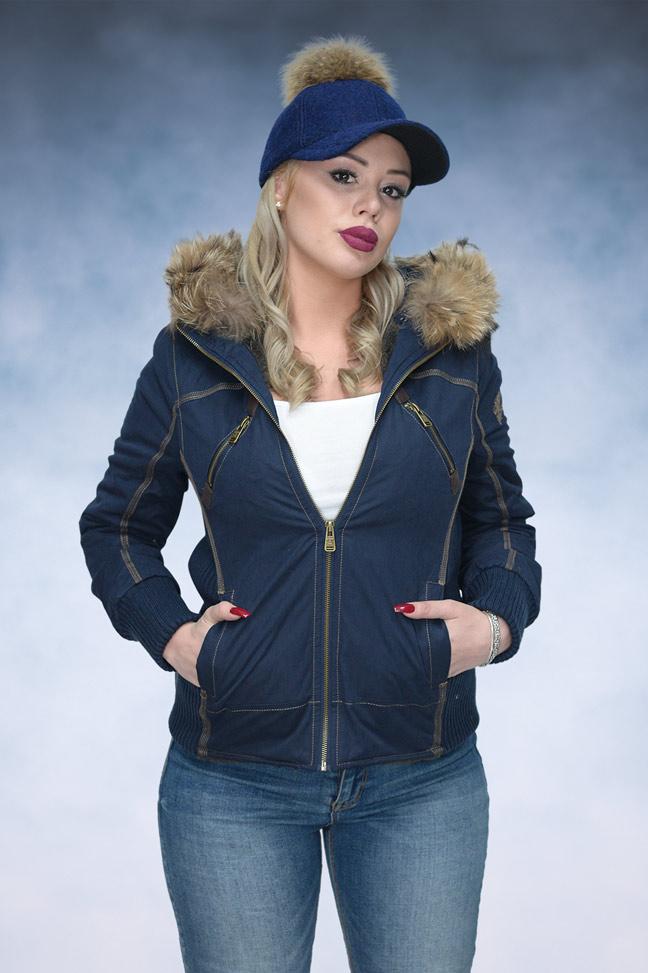 Ženska zimska jakna - Sportska i Casual - STAFF MS Navy - Teget