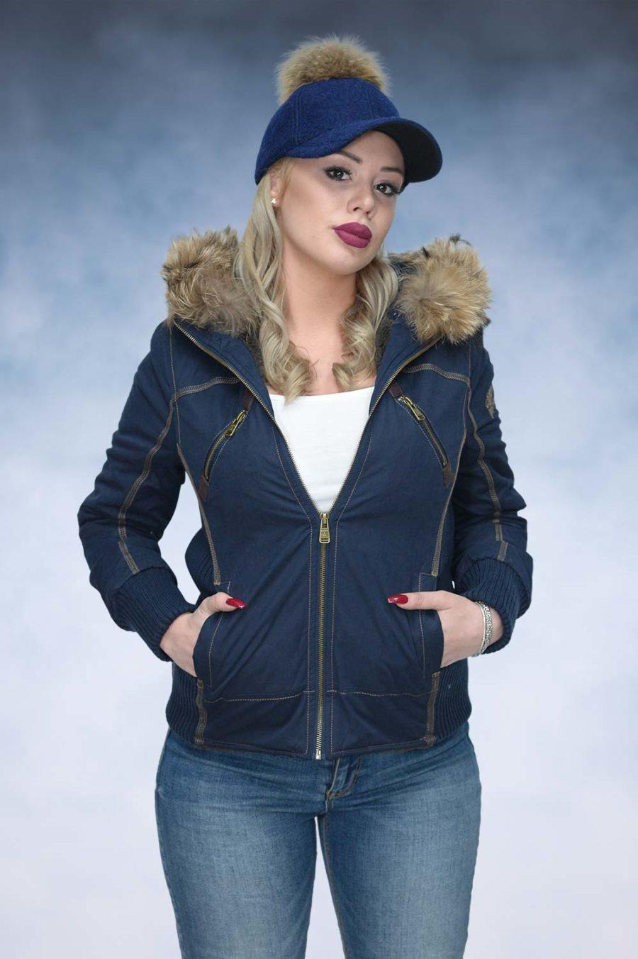 Ženska zimska jakna - Sportska i Casual - STAFF MS - Teget