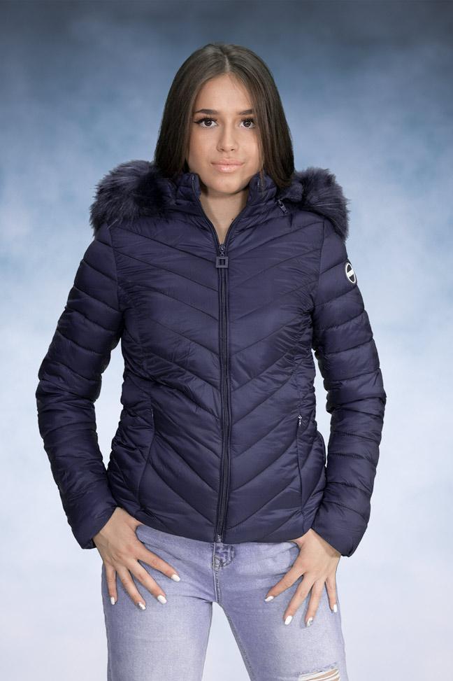 Ženska zimska jakna - Sportska i Casual - Yes Pink 1201-2 Teget