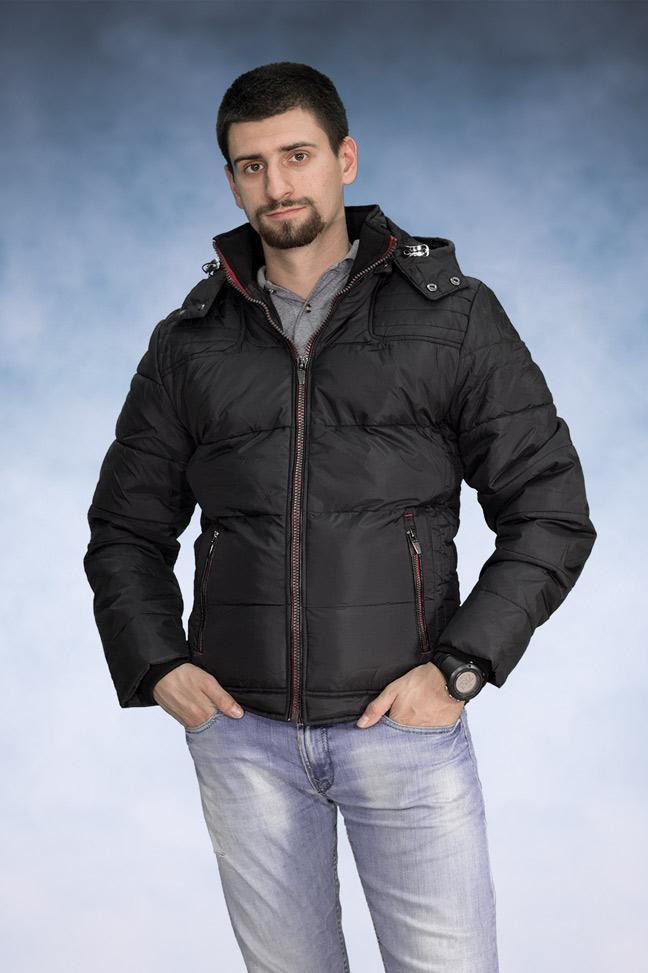 Muška zimska jakna - Sportska i Casual - 3908 - Crna