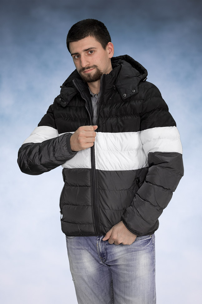 Muška zimska jakna - Sportska i Casual - 3988 - Crna