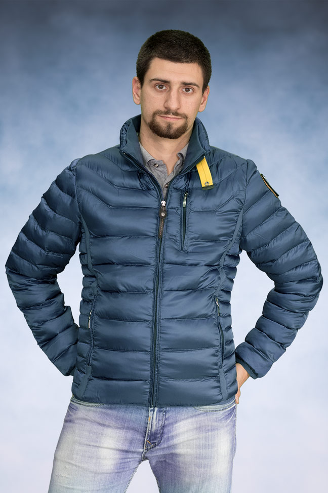 Muška zimska jakna - Sportska i Casual - 508 - Indigo