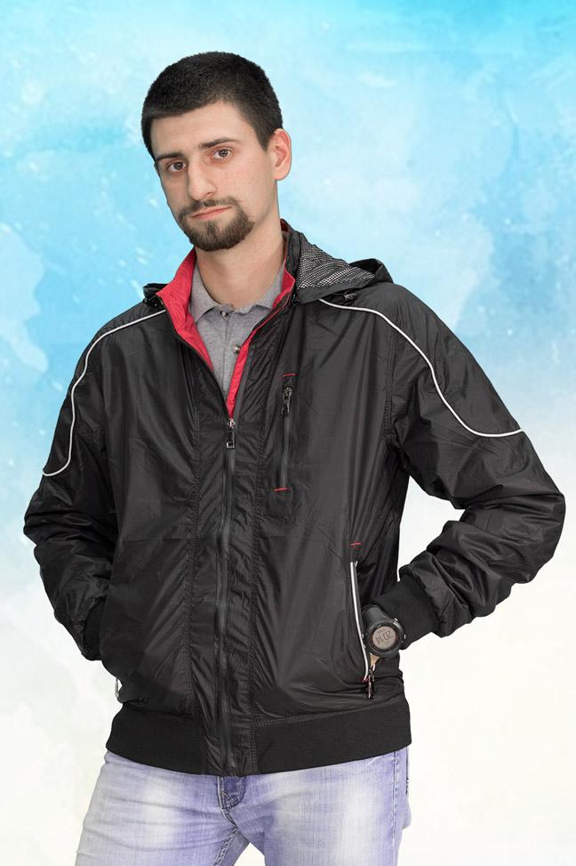 Muška prolećna jakna - Sportska i Casual - 3809 - Crna
