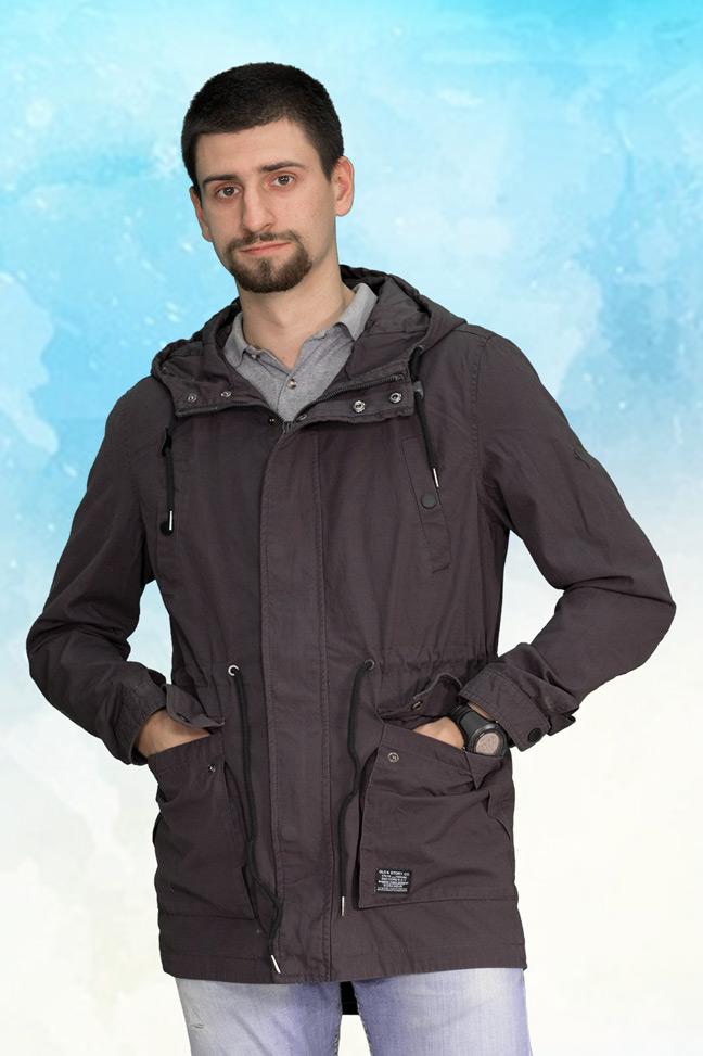 Muška prolećna jakna - Parka - 3792 - Siva