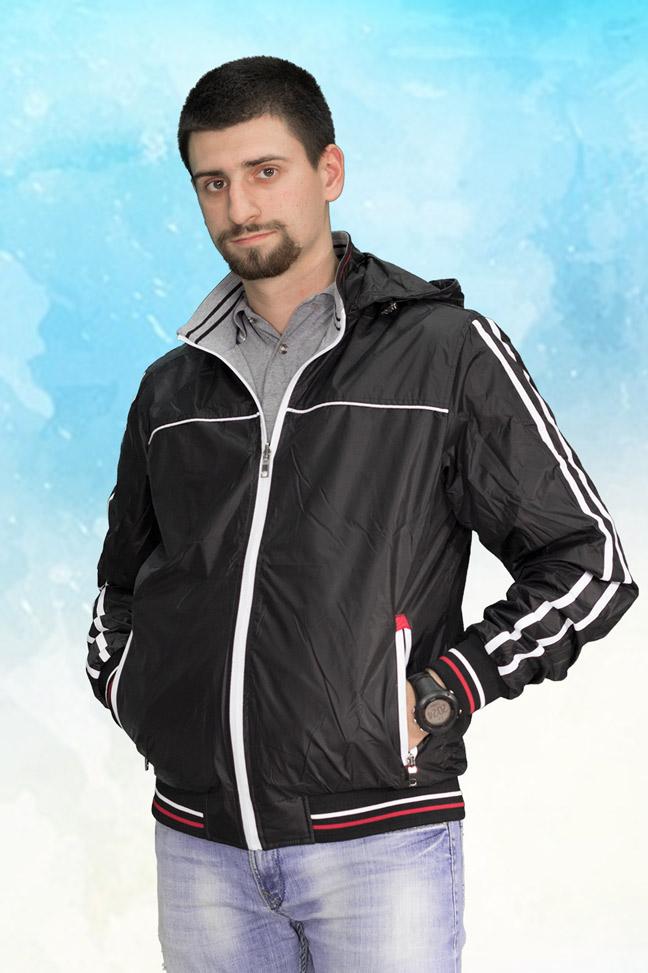 Muška prolećna jakna - Sportska i Casual - 3801 - Crna