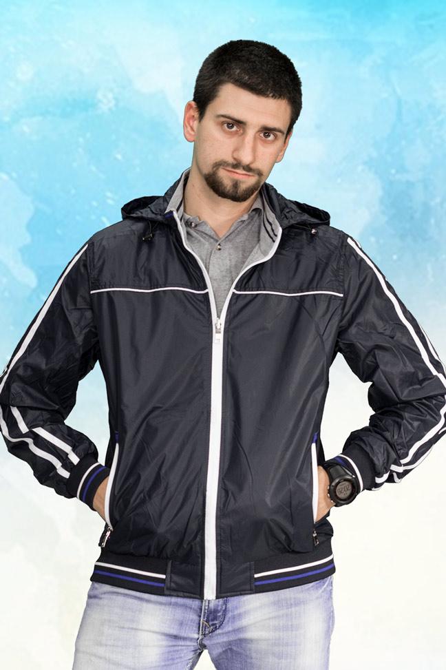 Muška prolećna jakna - Sportska i Casual - 3801 - Teget