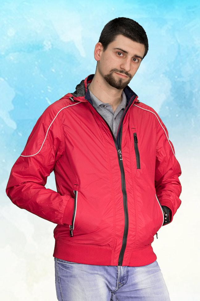 Muška prolećna jakna - Sportska i Casual - 3809 - Crvena