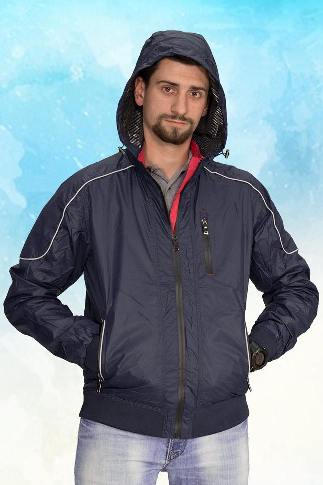 Muška prolećna jakna - Sportska i Casual - 3809 - Teget