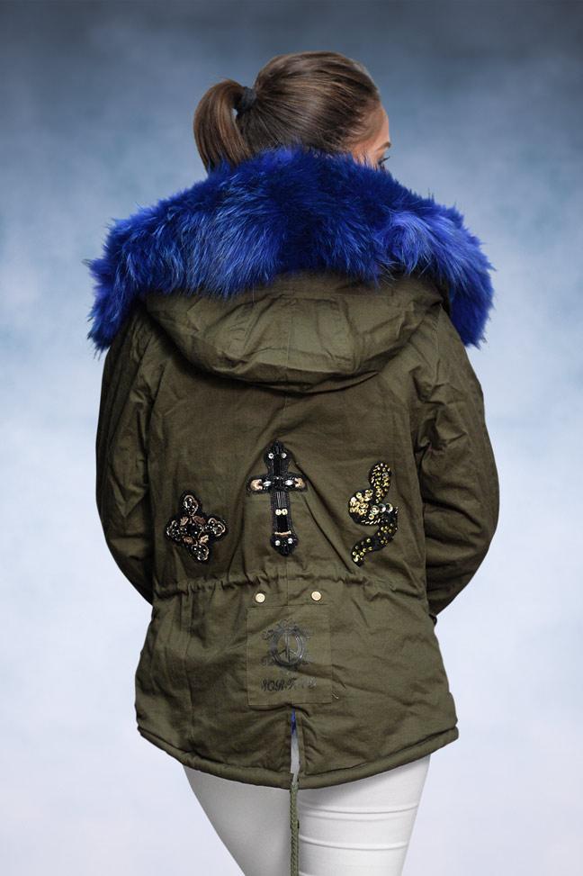 Ženska zimska jakna - Parka - 1693 - Plavo Krzno 2