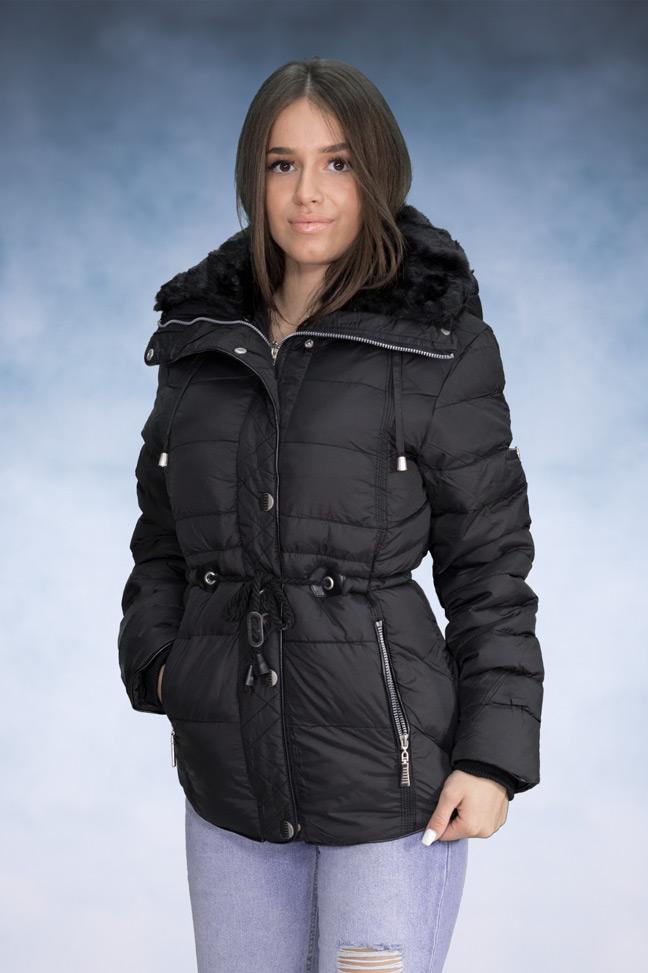 Ženska zimska jakna - Sportska i Casual - 4072 - Crna