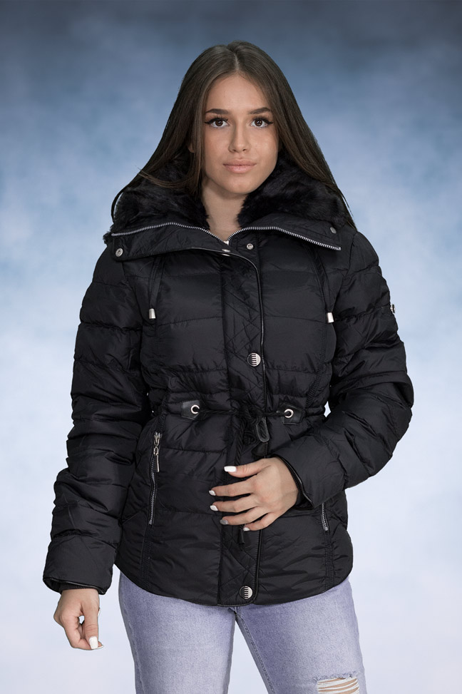 Ženska zimska jakna - Sportska i Casual - 4072 - Teget