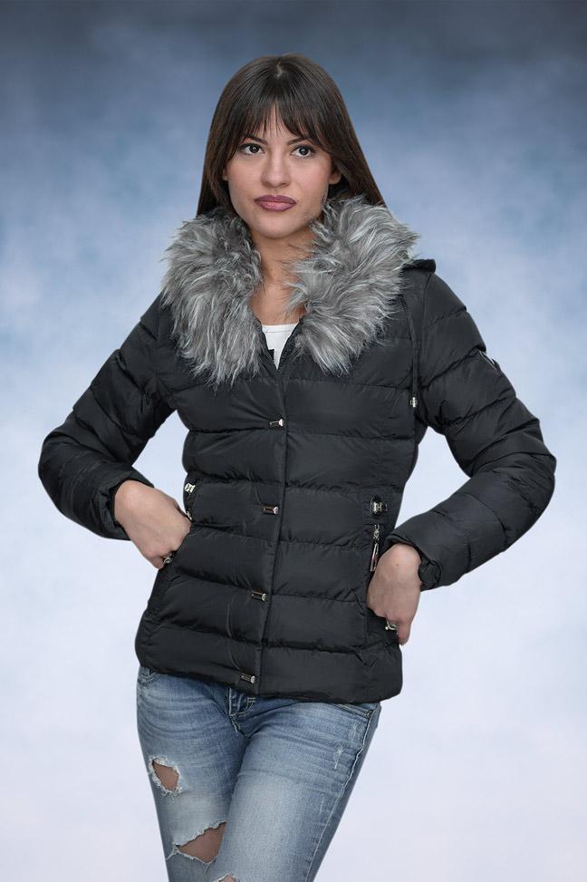 Ženska zimska jakna - Sportska i Casual - 4129 - Crna
