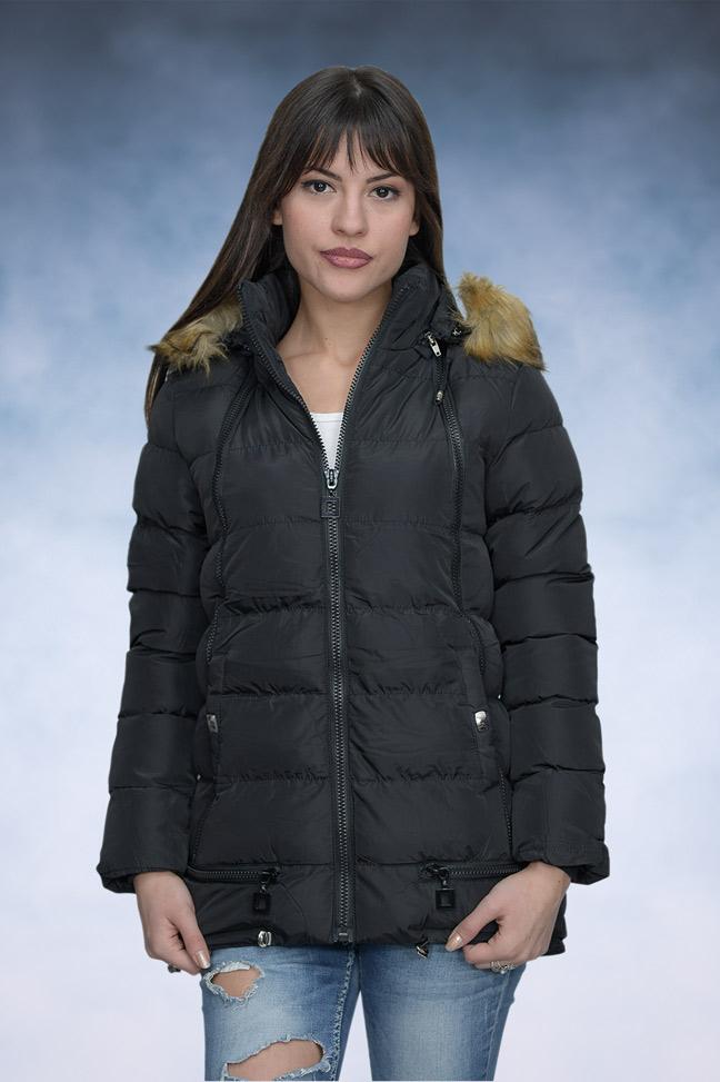 Ženska zimska jakna - Sportska i Casual - 4147 - Crna