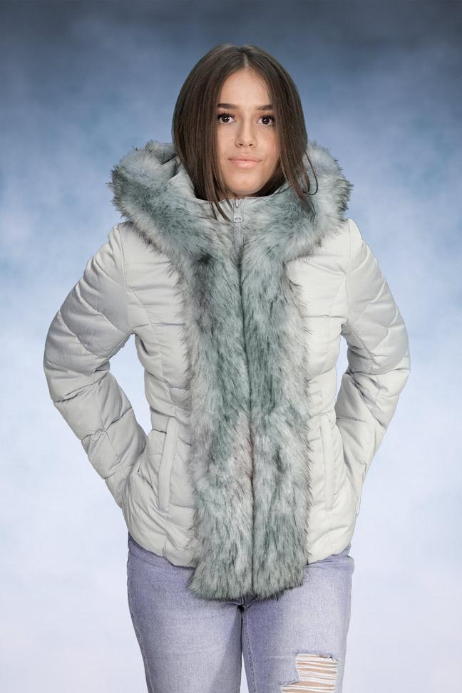Ženska zimska jakna - Sportska i Casual - 4581 - Svetlo siva