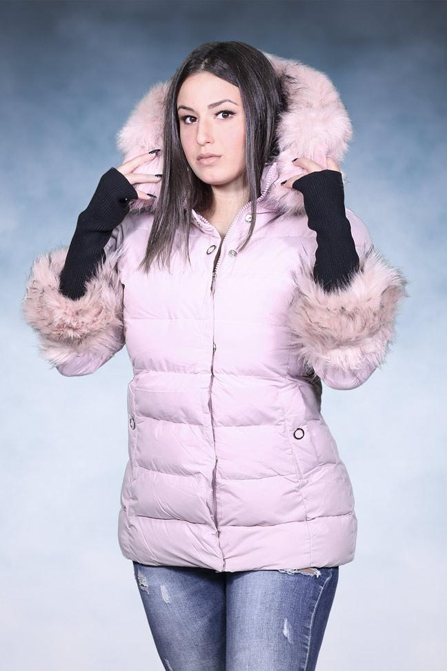 Ženska zimska jakna - Sportska i Casual - 4727 - Roze