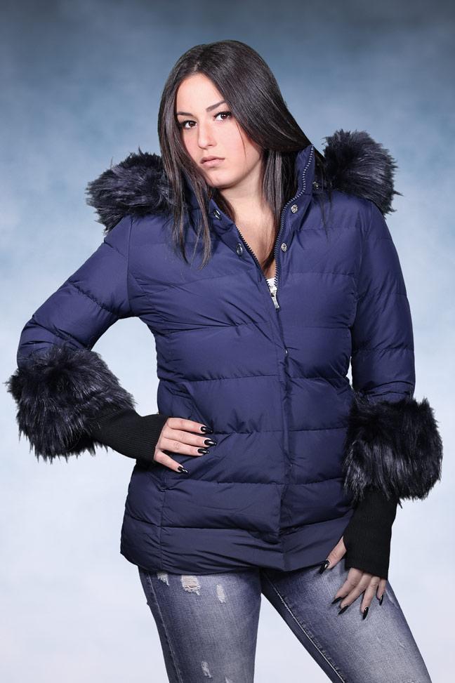 Ženska zimska jakna - Sportska i Casual - 4727 - Teget