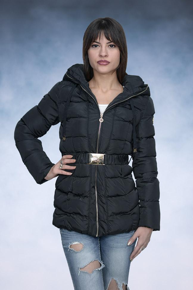 Ženska zimska jakna - Sportska i Casual - 1039 - Crna