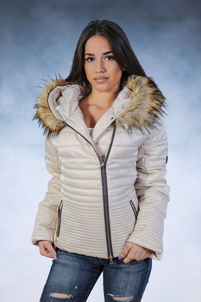 Ženska zimska jakna - Sportska i Casual - Rebecca 4 - Bež