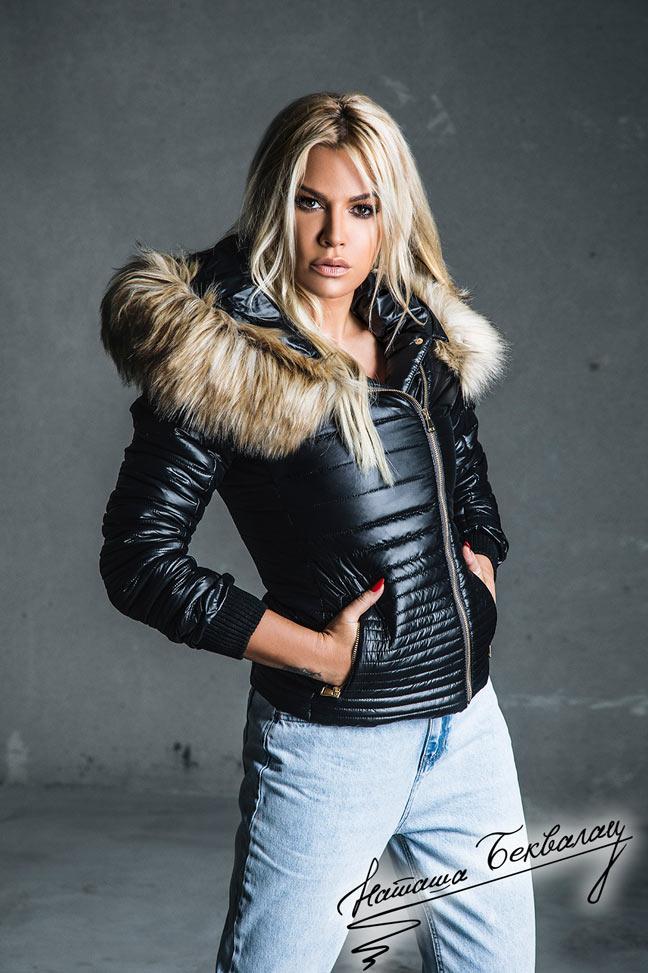 Ženska zimska jakna - Sportska i Casual - Rebecca 4 - Crna
