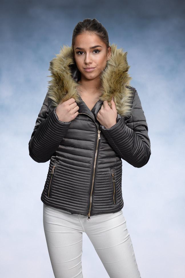 Ženska zimska jakna - Sportska i Casual - Rebecca 4 - Siva