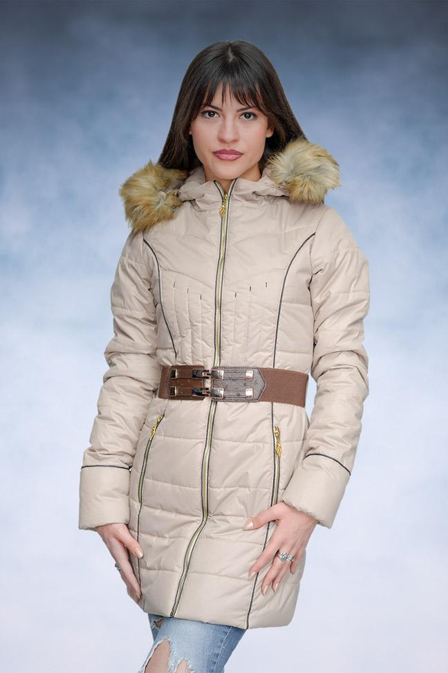Ženska zimska jakna - Sportska i Casual - Samantha 5 Žuto - Bež