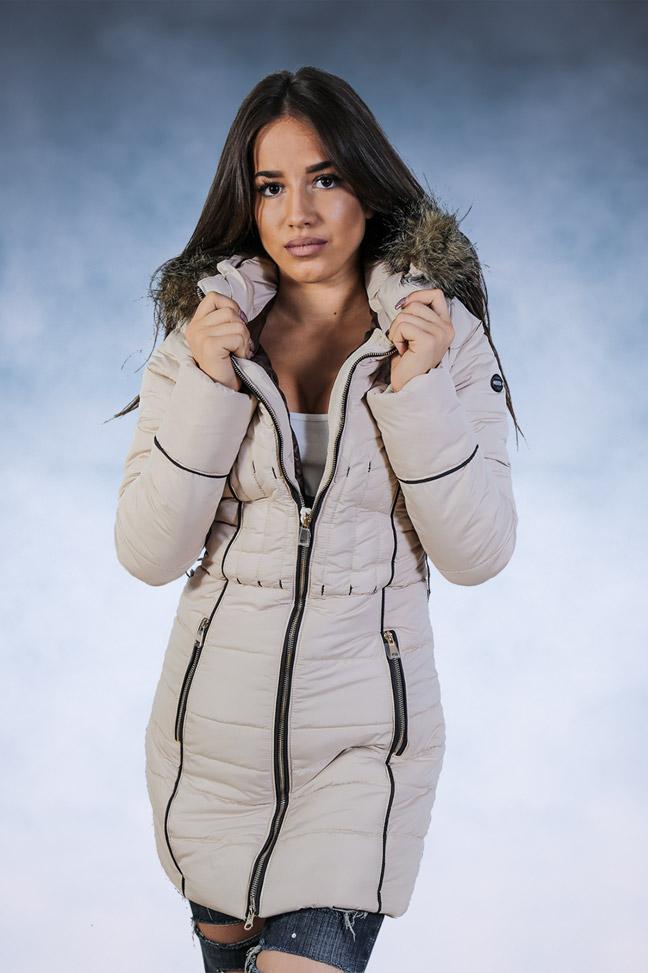 Ženska zimska jakna - Sportska i Casual - Samantha 5 - Bež