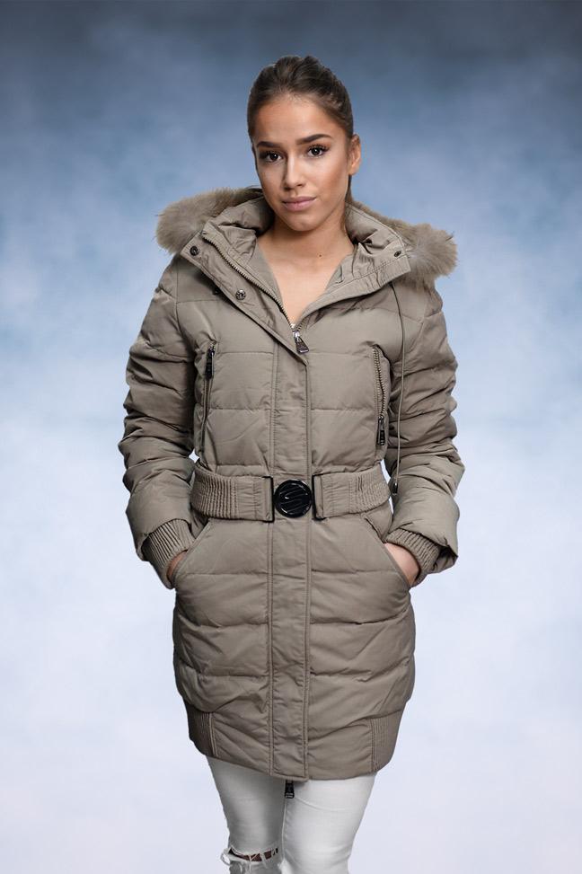 Ženska zimska jakna - Sportska i Casual - STAFF 112 - Krem
