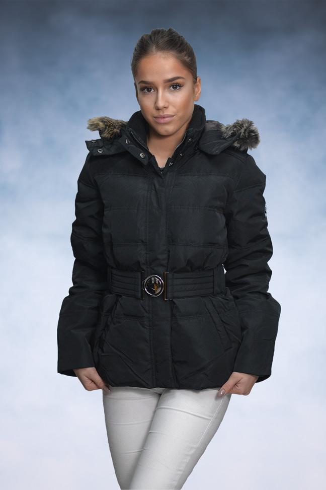 Ženska zimska jakna - Sportska i Casual - STAFF Dina - Crna