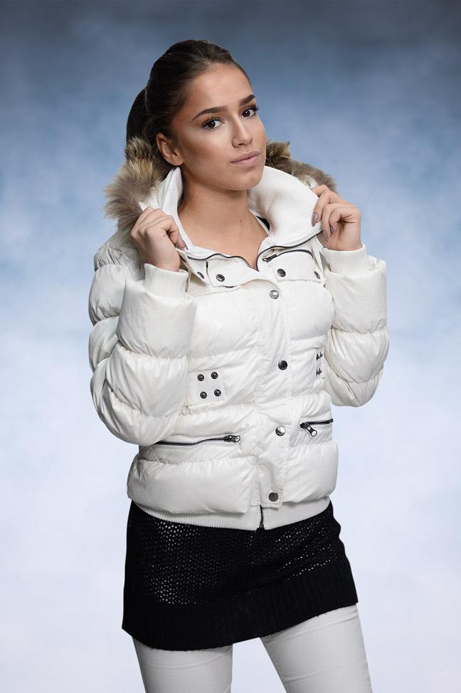 Ženska zimska jakna - Sportska i Casual - STAFF Federika - Bela