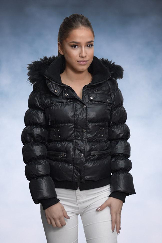 Ženska zimska jakna - Sportska i Casual - STAFF Federika - Crna