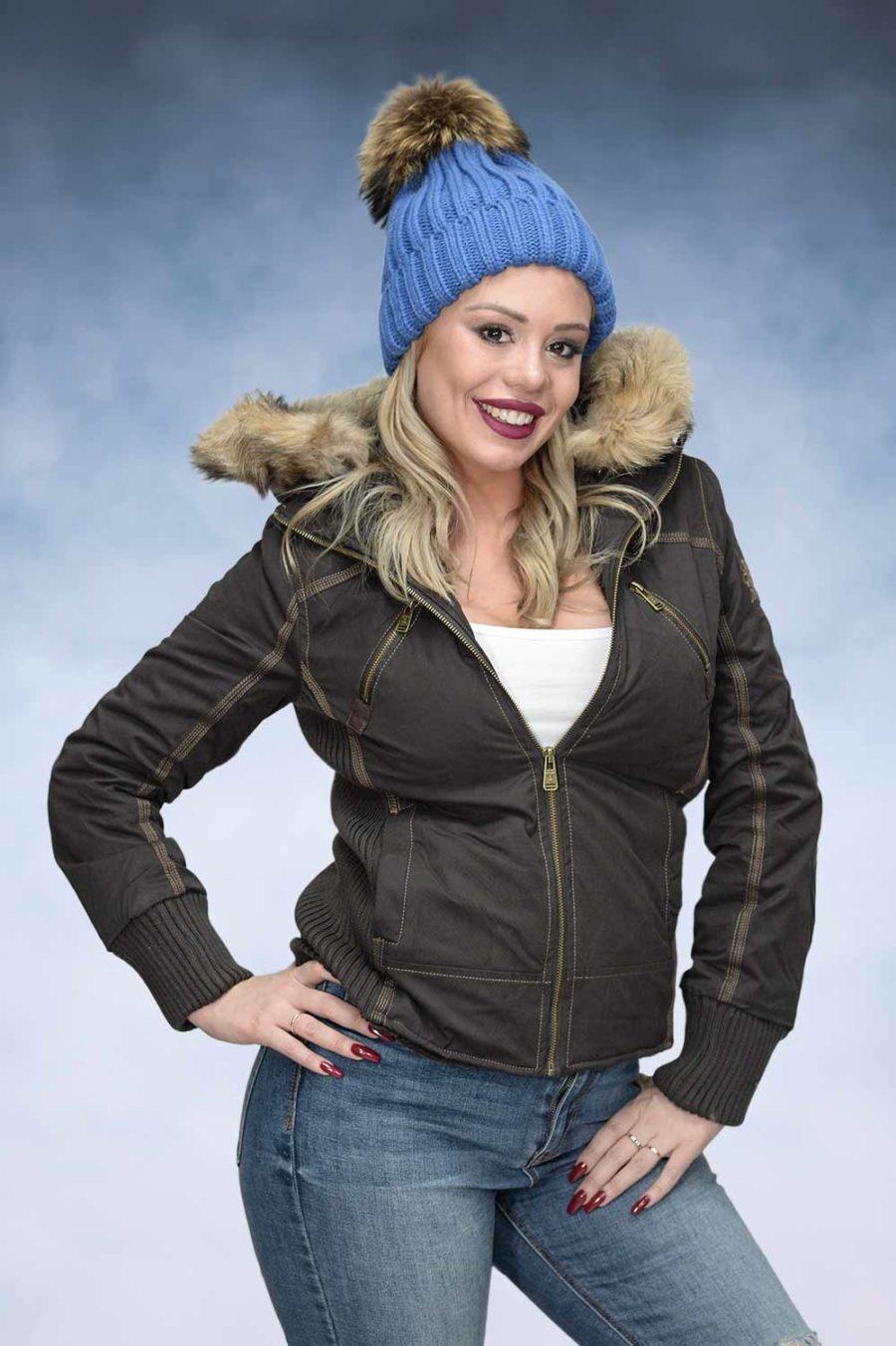 Ženska zimska jakna - Sportska i Casual - STAFF MS - Braon